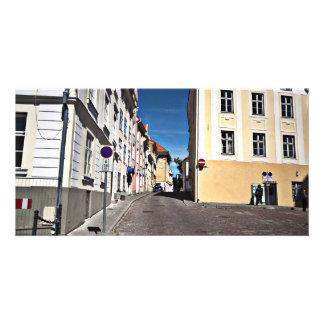 Straßen-Szene Estland Photokartenvorlagen