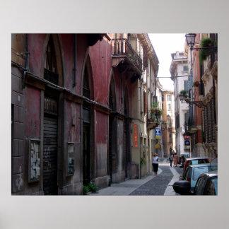 Straßen-Szene Veronas, Italien Poster