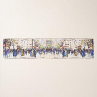 Straßen-Szenen-Mode-Chiffon- Schal Paris