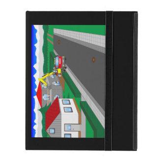 Straßen und Hausbau iPad Hülle