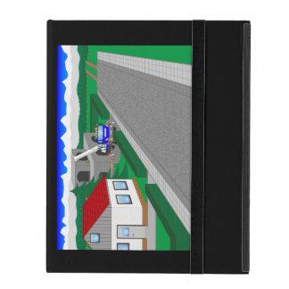 Straßen und Hausbau iPad Hüllen