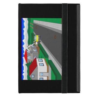 Straßen und Hausbau iPad Mini Etui