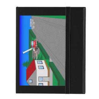 Straßen und Hausbau iPad Schutzhülle