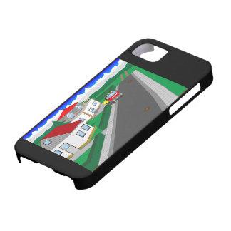 Straßen und Hausbau iPhone 5 Hülle