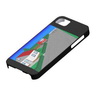 Straßen und Hausbau iPhone 5 Schutzhülle