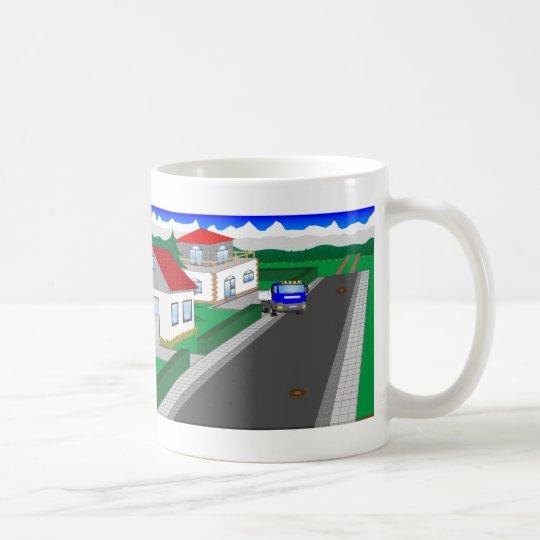Straßen und Hausbau Kaffeetasse