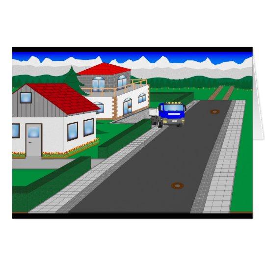 Straßen und Hausbau Karte