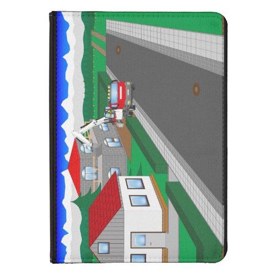 Straßen und Hausbau Kindle Touch Hülle