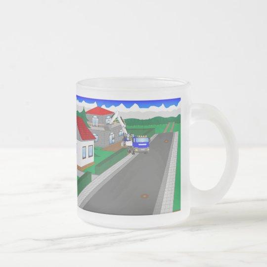 Straßen und Hausbau Mattglastasse