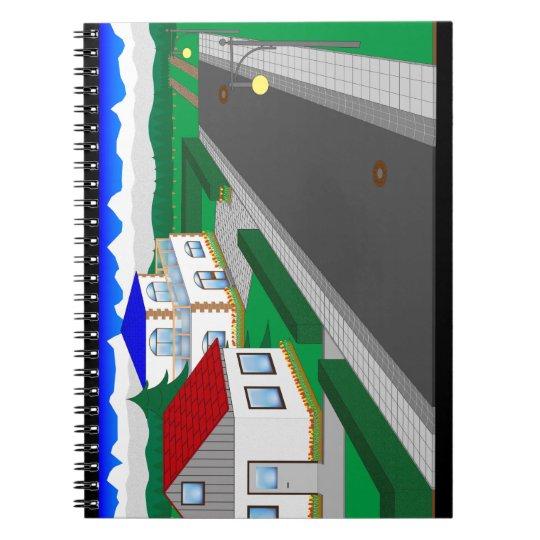 Straßen und Hausbau Notizblock