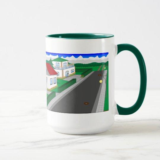 Straßen und Hausbau Tasse