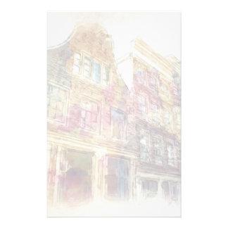 Straßen von altem Amsterdam Personalisierte Druckpapiere