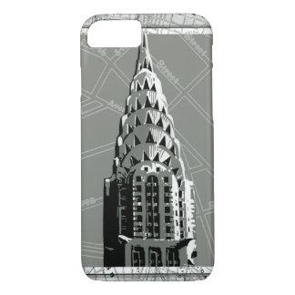 Straßen von New York mit Reich-Staats-Gebäude iPhone 8/7 Hülle