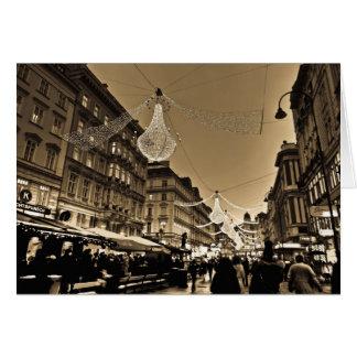Straßen von Wien an der Weihnachtsfeiertags-Karte Karte