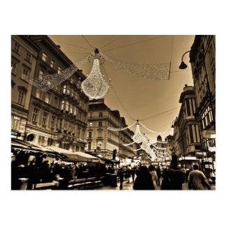 Straßen von Wien an der Weihnachtsfeiertags-Karte Postkarte