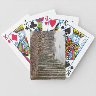 Straßenansicht in die alte Stadt Labin in Istria, Bicycle Spielkarten