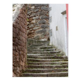 Straßenansicht in die alte Stadt Labin in Istria, Postkarte