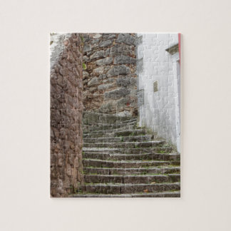 Straßenansicht in die alte Stadt Labin in Istria, Puzzle