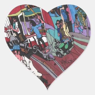 Straßenauto in Hanoi Herz-Aufkleber