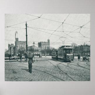 Straßenbahn Praterstern und das Gard du Nord Paris Plakat
