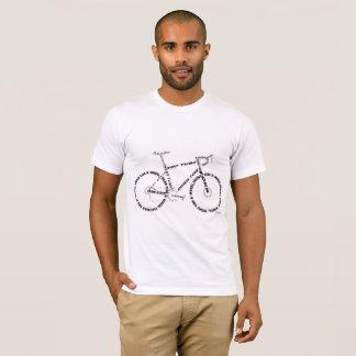 Straßenfahrrad-Kunstentwurf T-Shirt