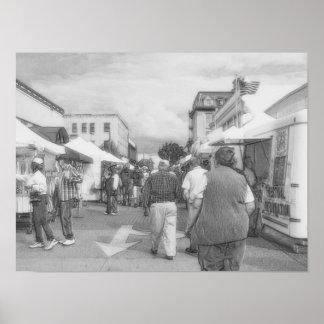 Straßenhändler BanW Poster
