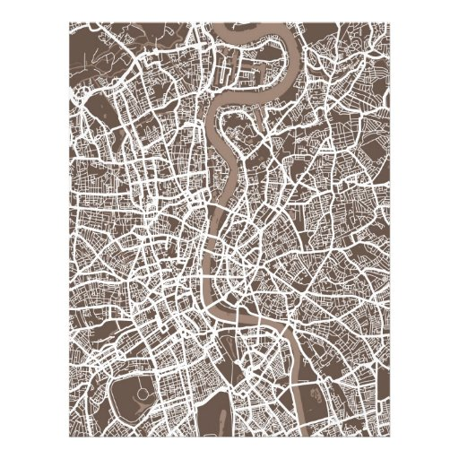 Straßenkarte-Kunst Londons England Individuelle Flyer