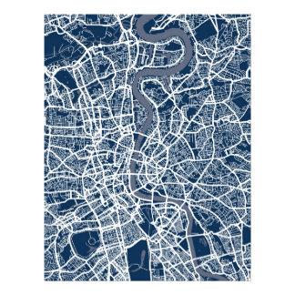 Straßenkarte-Kunst Londons England Flyerdesign