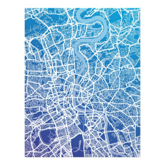 Straßenkarte-Kunst Londons England Bedruckte Flyer