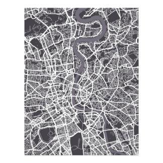 Straßenkarte-Kunst Londons England