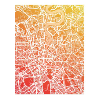 Straßenkarte-Kunst Londons England Vollfarbige Flyer