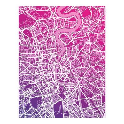 Straßenkarte Londons England Flyerdruck