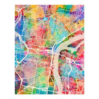 Straßenkarte Philadelphias Pennsylvania 21,6 X 27,9 Cm Flyer