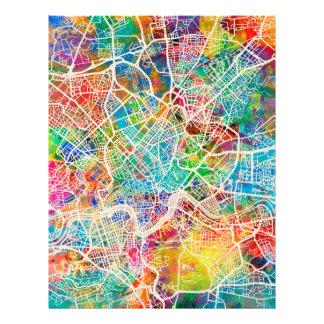 Straßenkarte Roms Italien 21,6 X 27,9 Cm Flyer