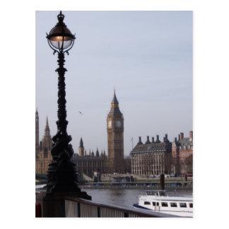Straßenlaterneund Big Ben-Postkarte