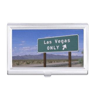 Straßenrandzeichen, das Richtung, Kalifornien Visitenkarten Etui
