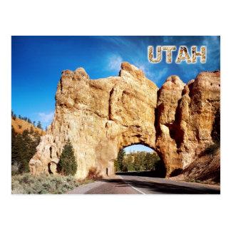 Straßentunnel, rote Schlucht, Utah Postkarte