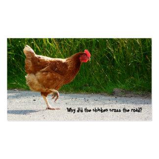 Straßenüberquerung Huhn-Visitenkarte Visitenkarten