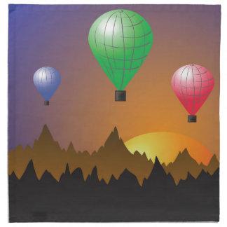 Stratosphärische Ballone Stoffserviette