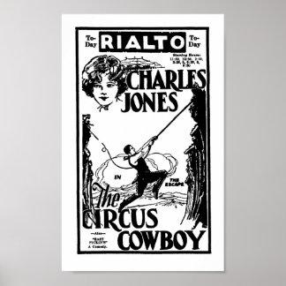Sträuben Sie sich Cowboy-Filmanzeige des Jones-ZIR Poster