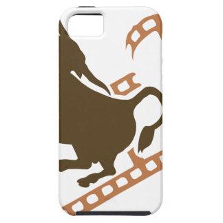 Sträubende Stier-Filmrolle iPhone 5 Schutzhülle