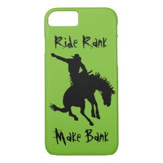 Sträubender Bronc-Reitrodeo-Cowboy-Fahrrang-Fall iPhone 8/7 Hülle