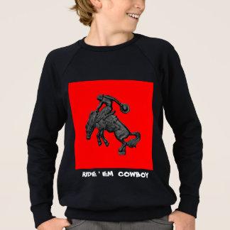 Sträubender Pferdecowboy .jpg Texas Sweatshirt