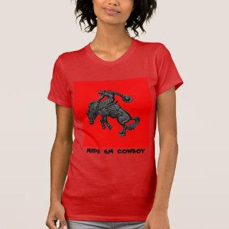 Sträubender Pferdecowboy .jpg Texas T-Shirt