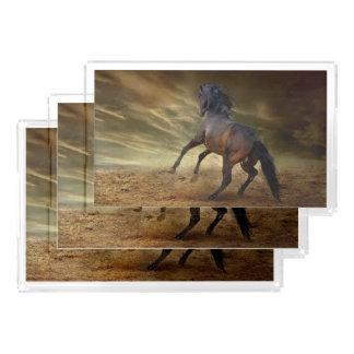 Sträubender wilder Mustang Acryl Tablett