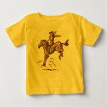 Sträubendes Pferdencowboy-Babyt-stück T Shirt