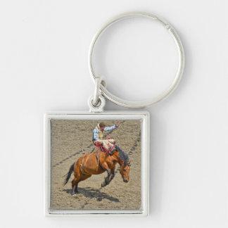 Sträubendes ungesatteltes Pferden-und Rodeo-Cowboy Schlüsselanhänger