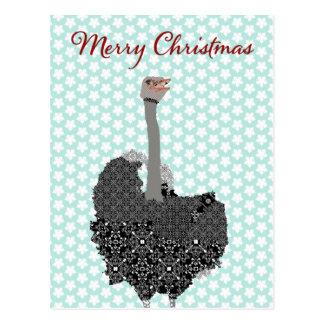 Strauß-blauer Stern-Postkarten-Weihnachten Postkarte