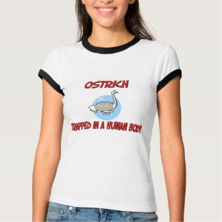 Strauß eingeschlossen in einem menschlichen Körper T-Shirt