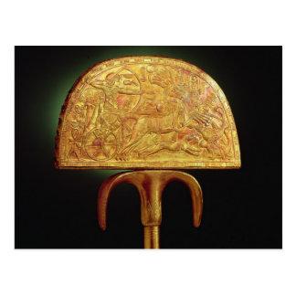 Strauß-Feder Fan, vom Grab von Tutankhamun Postkarte